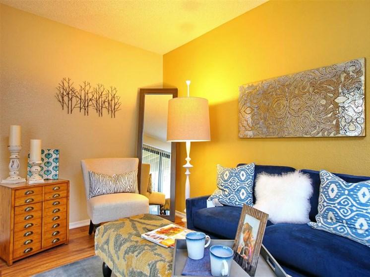 Model apartment home living room
