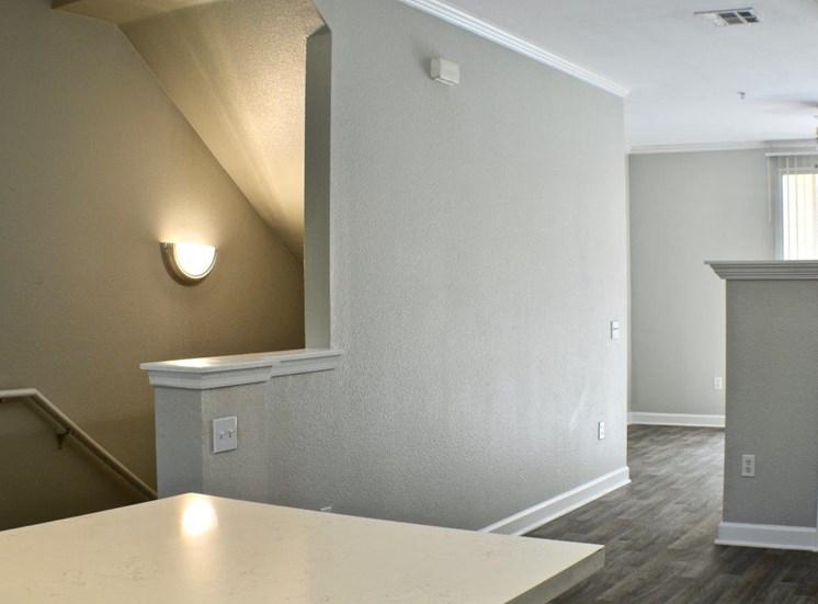 Vacant apartment home hallway second floor