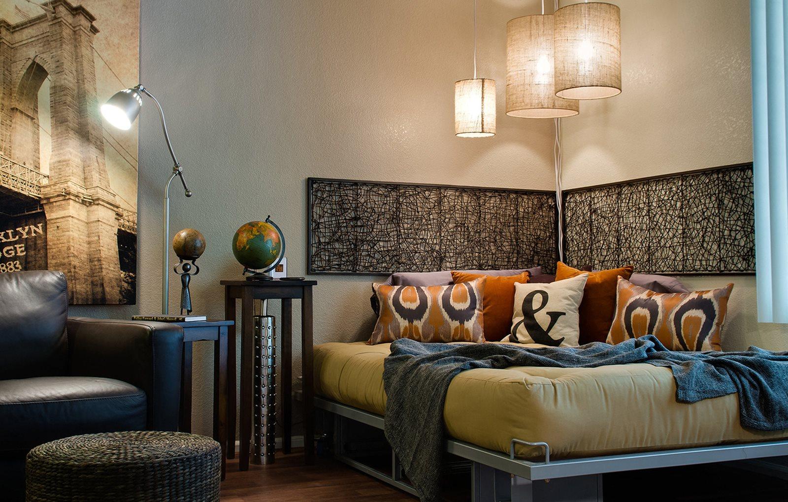 Model apartment home bedroom