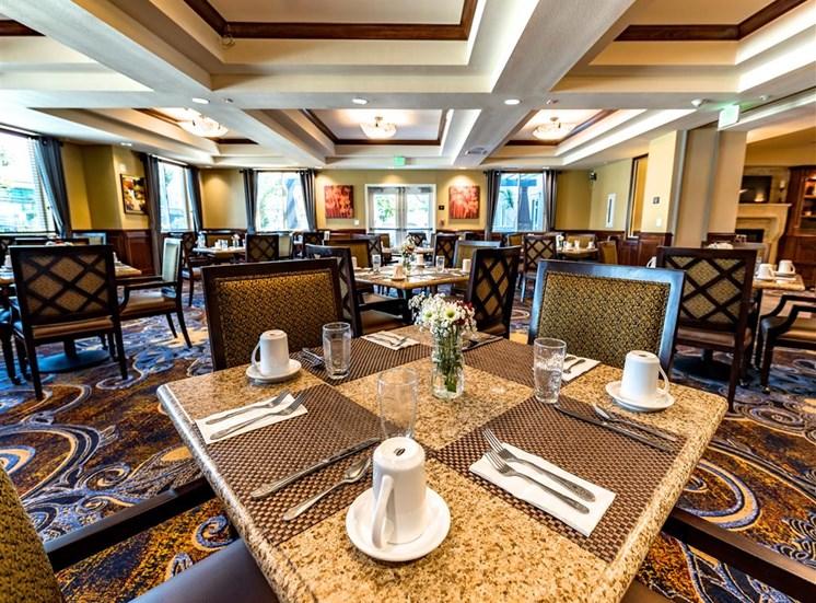 Elegant Dining Hall at Pacifica Senior Living Oxnard, Oxnard, CA, 93036