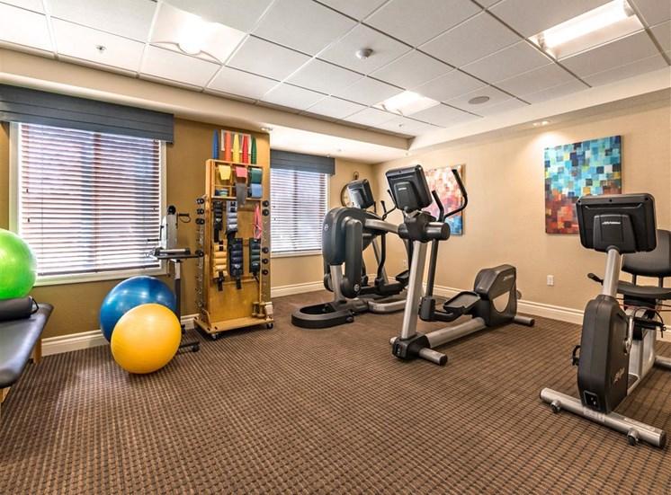 Upgraded Fitness Studio  at Pacifica Senior Living Oxnard, Oxnard, 93036