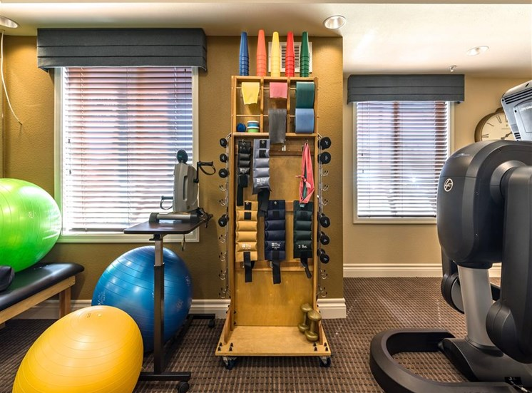 Fitness Machines and Athletic Balls at Pacifica Senior Living Oxnard, CA, 93036