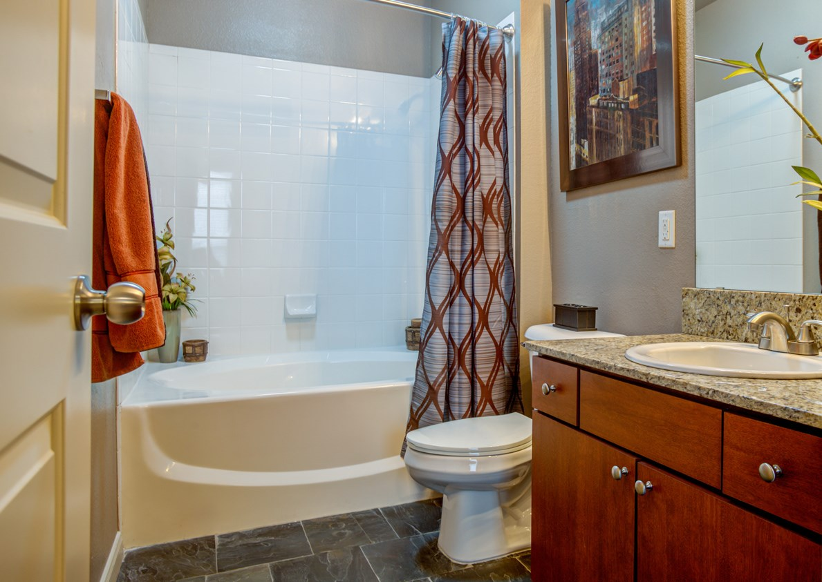 Bathroom at The Ranch at Pinnacle Point Apartments in Rogers, AR