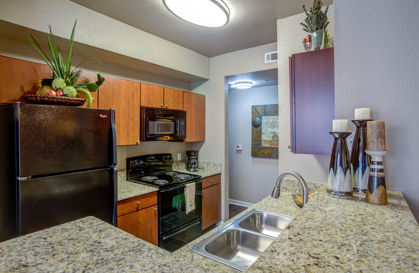 Kitchen at The Ranch at Pinnacle Point Apartments in Rogers, AR