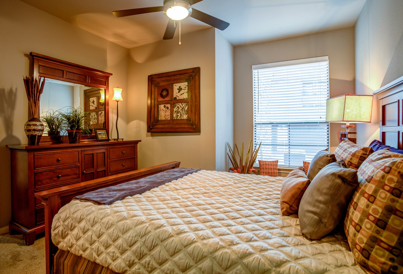 Bedroom at The Ranch at Pinnacle Point Apartments in Rogers, AR