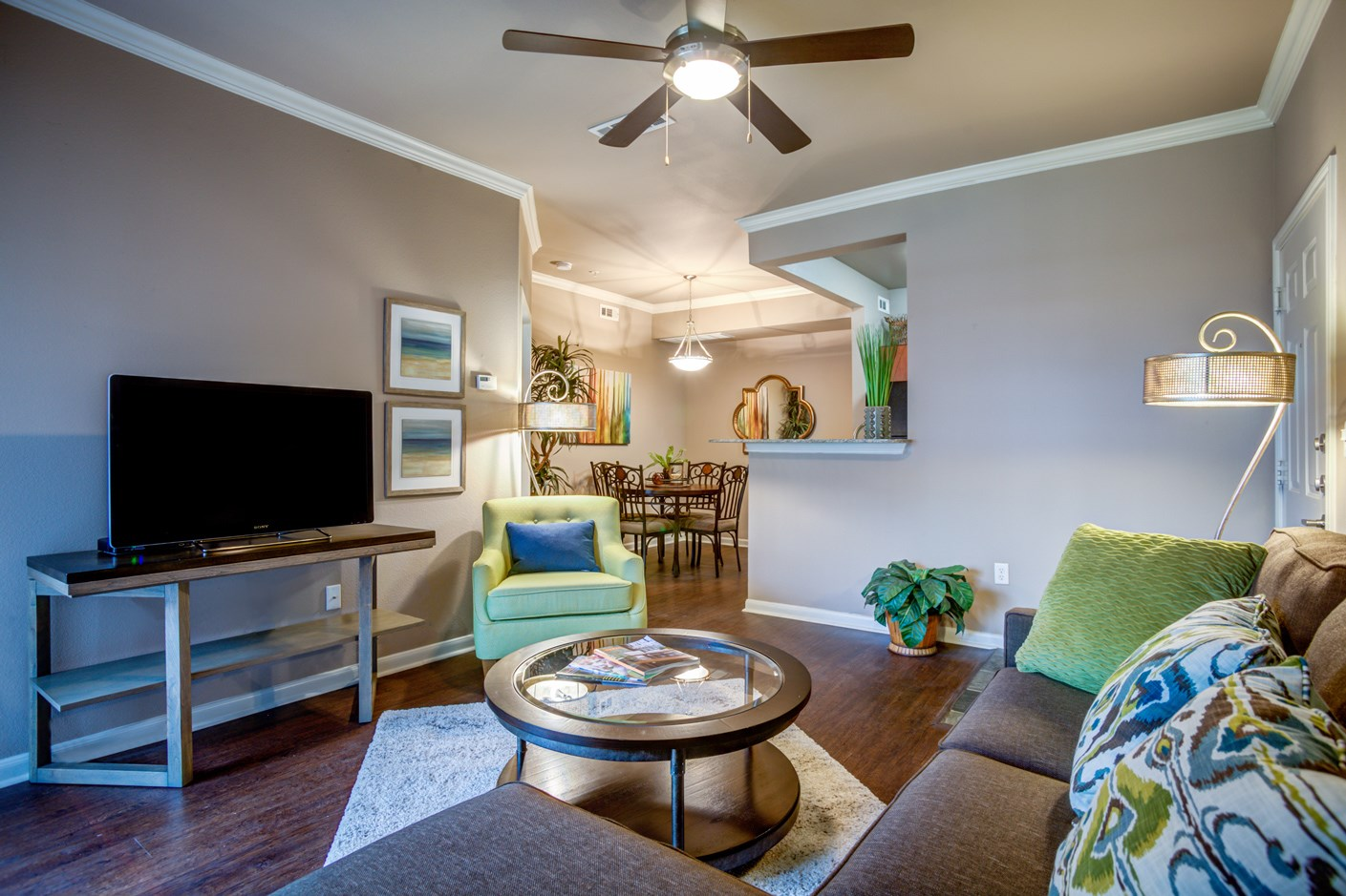 Living Room at The Ranch at Pinnacle Point Apartments in Rogers, AR