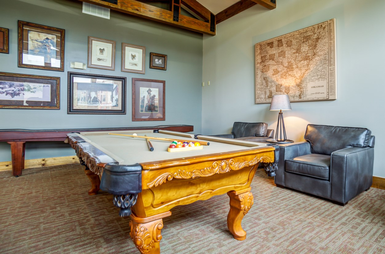 Billiards at The Ranch at Pinnacle Point Apartments in Rogers, AR