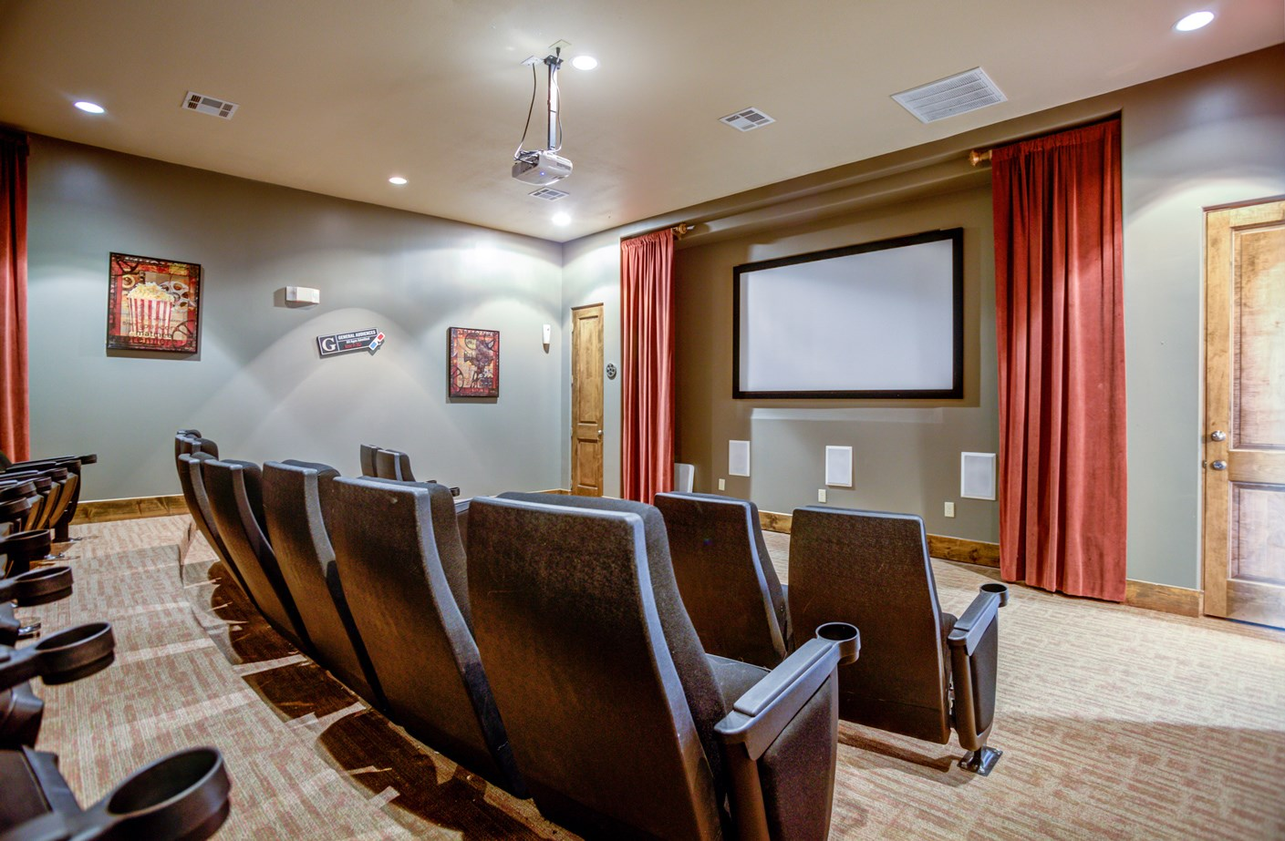 Theater Room at The Ranch at Pinnacle Point Apartments in Rogers, AR