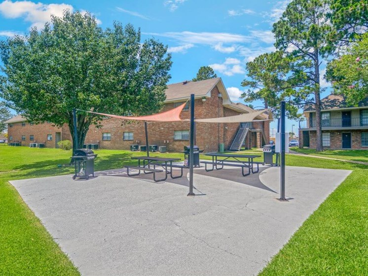 Baton Rouge apartment with picnic area