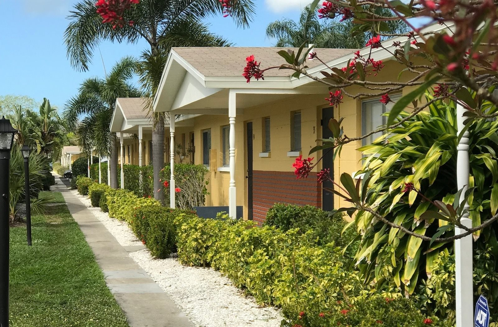 beautiful home exteriors with lush landscaping and neat sidewalks