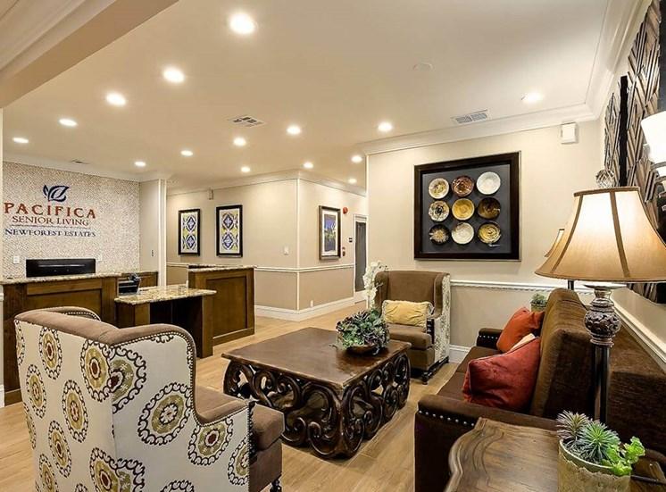 Reception Sitting Area at NewForest Estates, Texas, 78229
