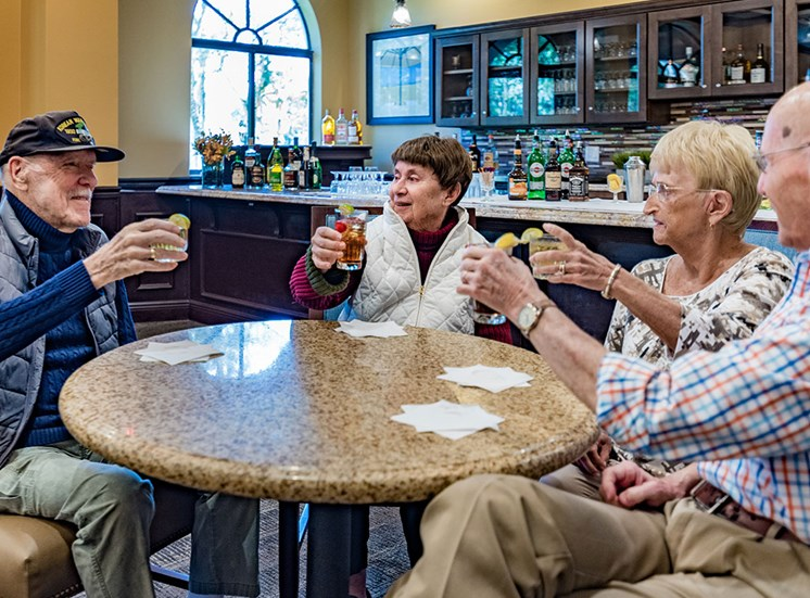 Daily Happy Hour at Pacifica Senior Living Forest Trace, Lauderhill, FL