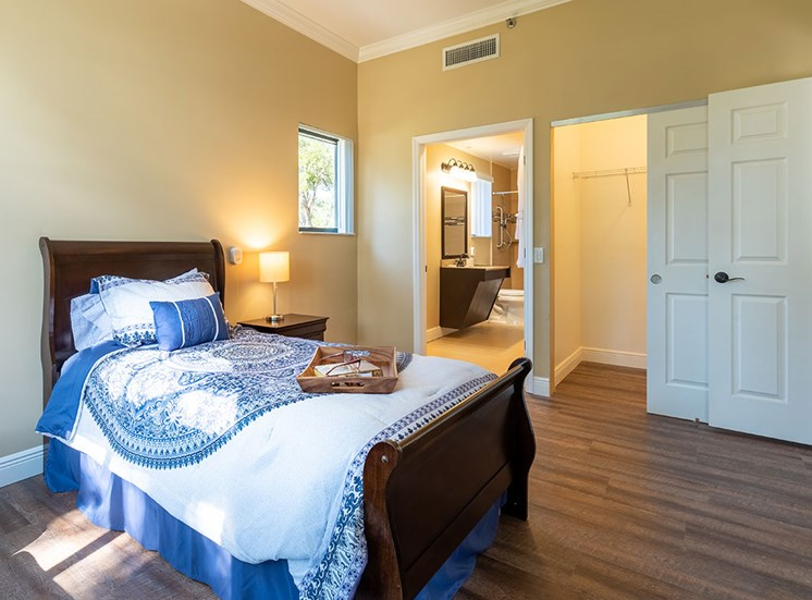 Cozy Bedroom at Pacifica Senior Living Forest Trace, Lauderhill, 33319
