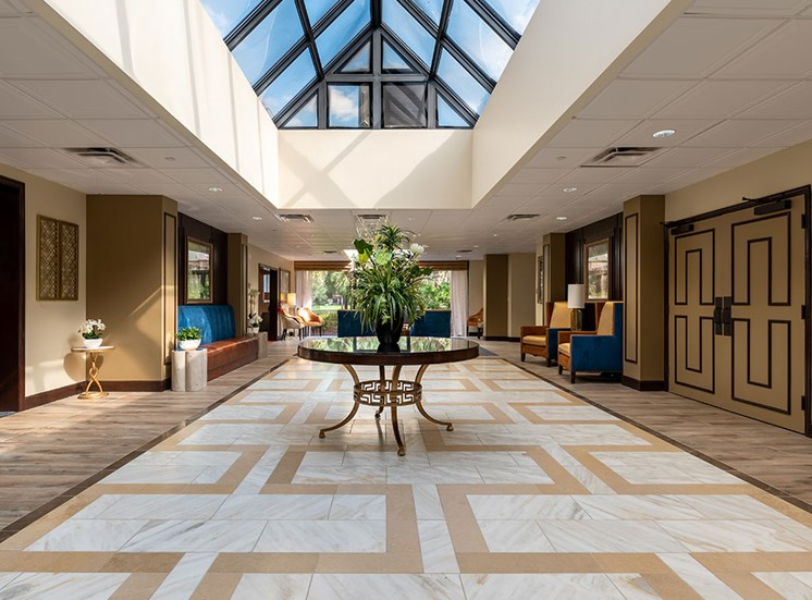 Lobby Area at Pacifica Senior Living Forest Trace, Lauderhill, FL