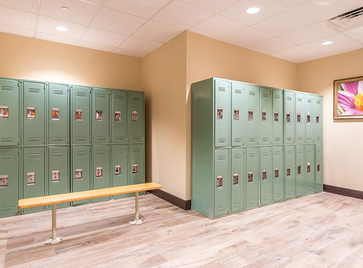Delivery Lockers at Pacifica Senior Living Forest Trace, Lauderhill, Florida