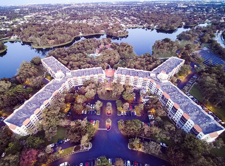 Aerial View Of Community Amenities at Pacifica Senior Living Forest Trace, Lauderhill