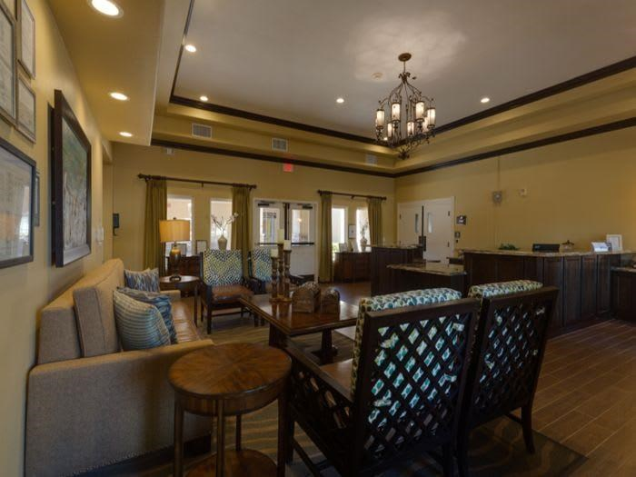Entrance lobby at Pacifica Senior Living Green Valley