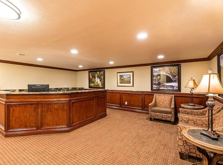 Front Lobby for Socializing at Pacifica Senior Living Heritage Hills in Hendersonville, North Carolina
