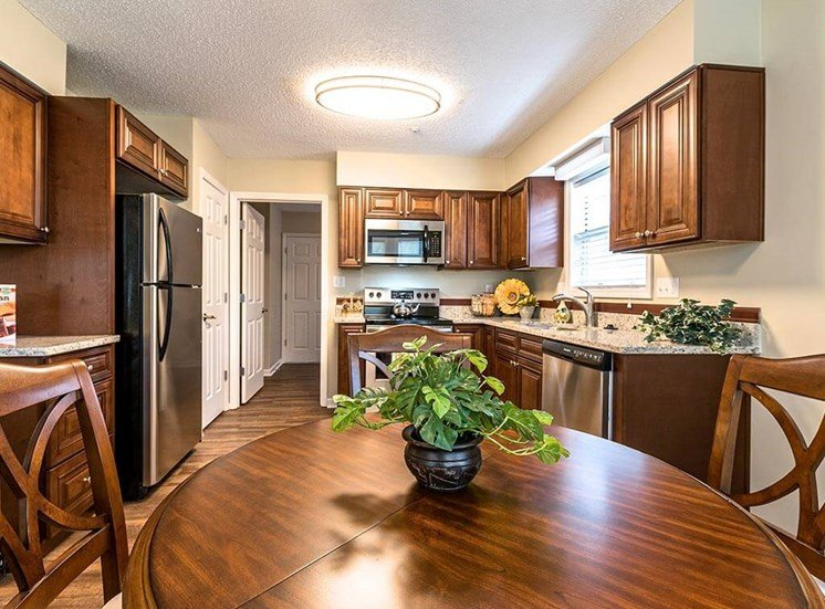 Updated Appliances in Kitchen Model House at Pacifica Senior Living Heritage Hills in Hendersonville, North Carolina