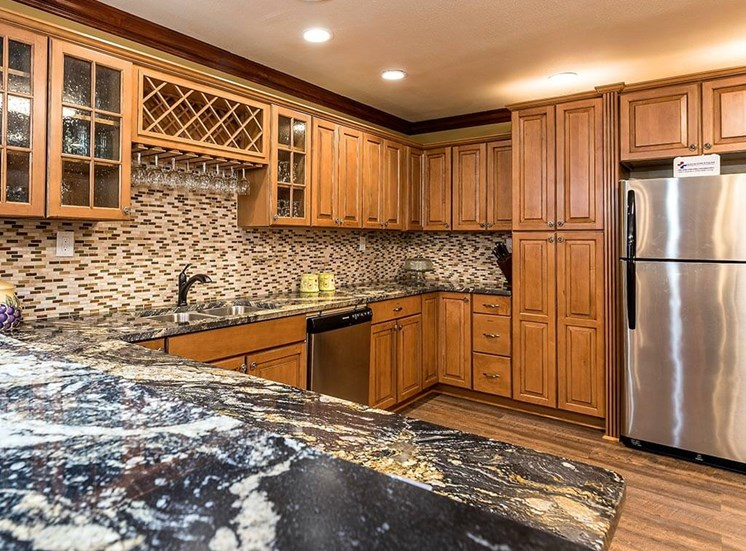 Clubhouse Kitchen at Pacifica Senior Living Heritage Hills in Hendersonville, North Carolina