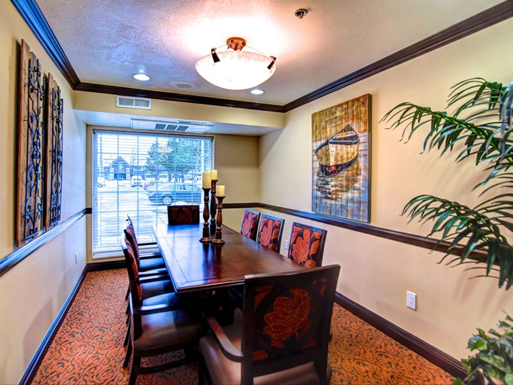 Formal Private Dining Room at Pacifica Senior Living Millcreek