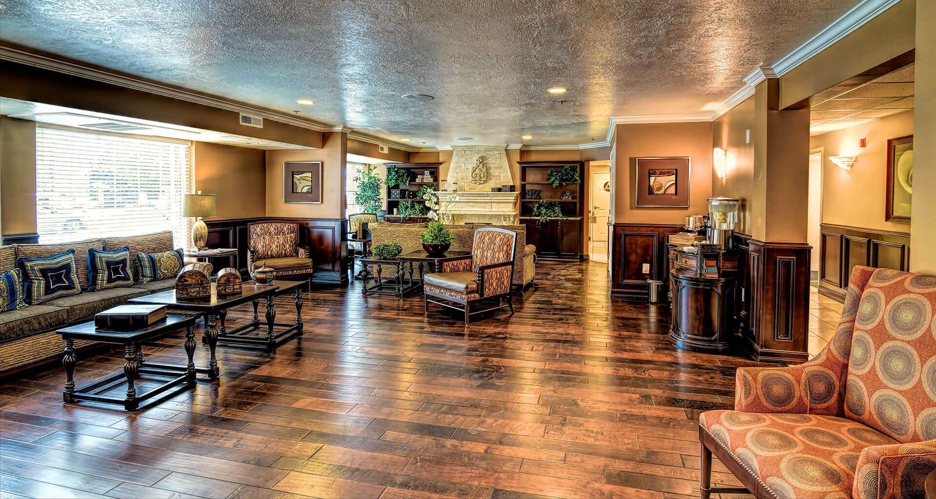 Posh Resident Lounge at Pacifica Senior Living Millcreek, Salt Lake City, UT