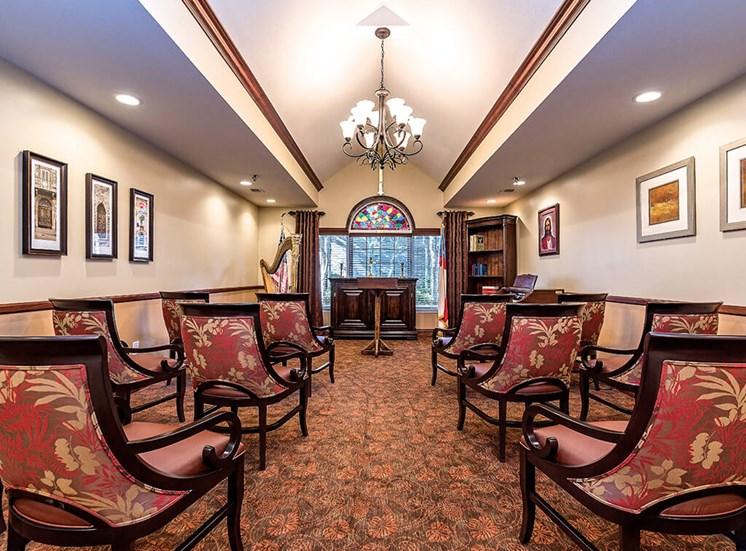 Religious Services: Catholic at Pacifica Senior Living Skylyn, South Carolina