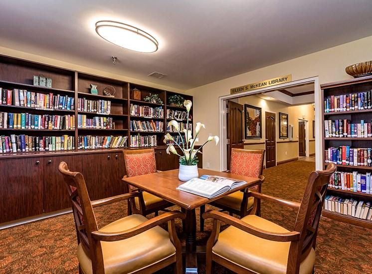 Library at Pacifica Senior Living Skylyn, Spartanburg, SC, 29307