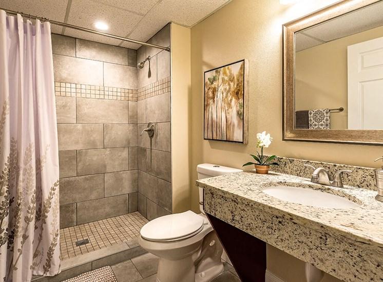 Spacious Bathrooms at Pacifica Senior Living Skylyn, Spartanburg