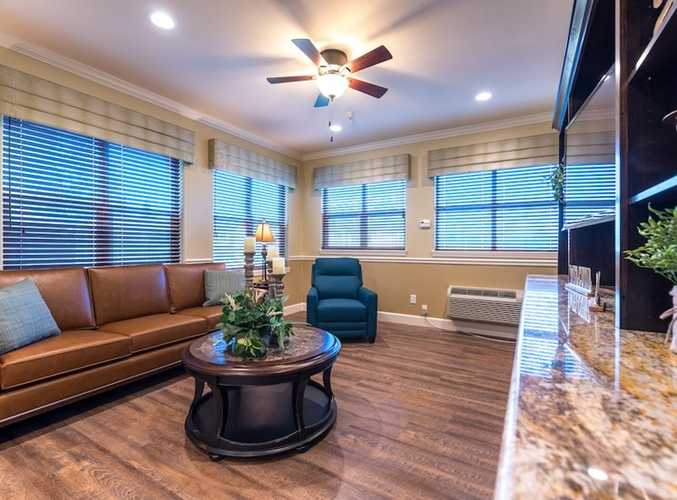 Huge Waiting Area with TV at Pacifica Senior Living Vancouver, WA 98684
