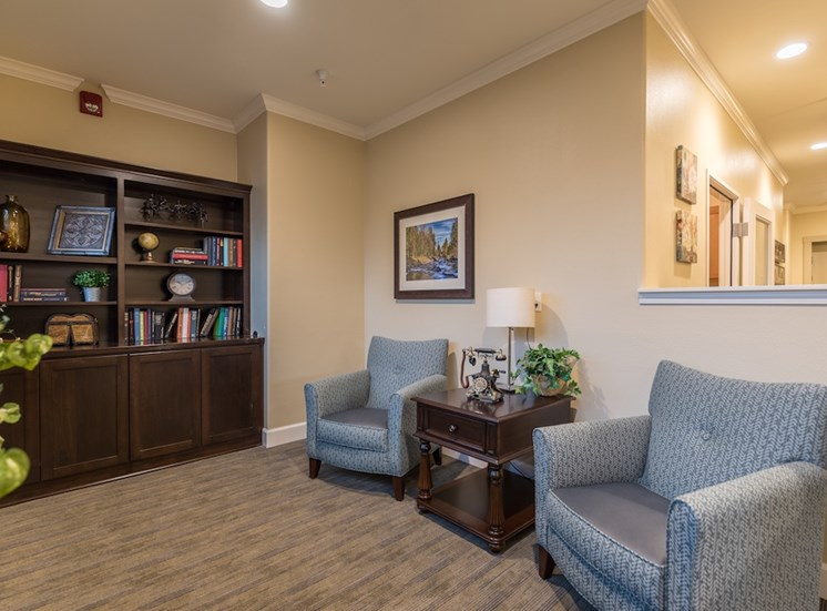 Many Indoor Meeting Areas to Talk  at Pacifica Senior Living Vancouver, Washington, 98684