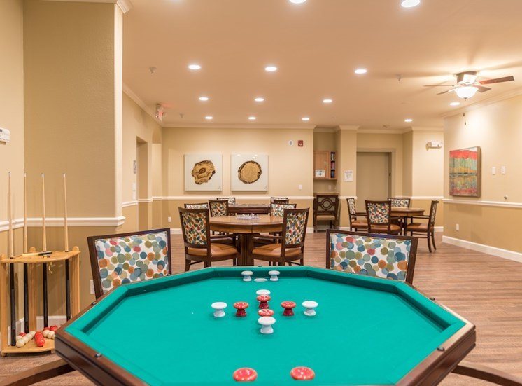 Play Pool with Friends at Pacifica Senior Living Vancouver, WA