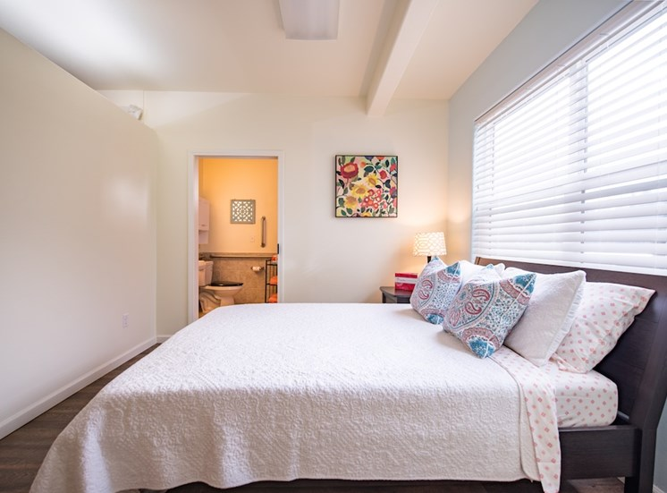 Freshly Updated Bedroom with Window at Pacifica Senior Living Vancouver, WA 98684