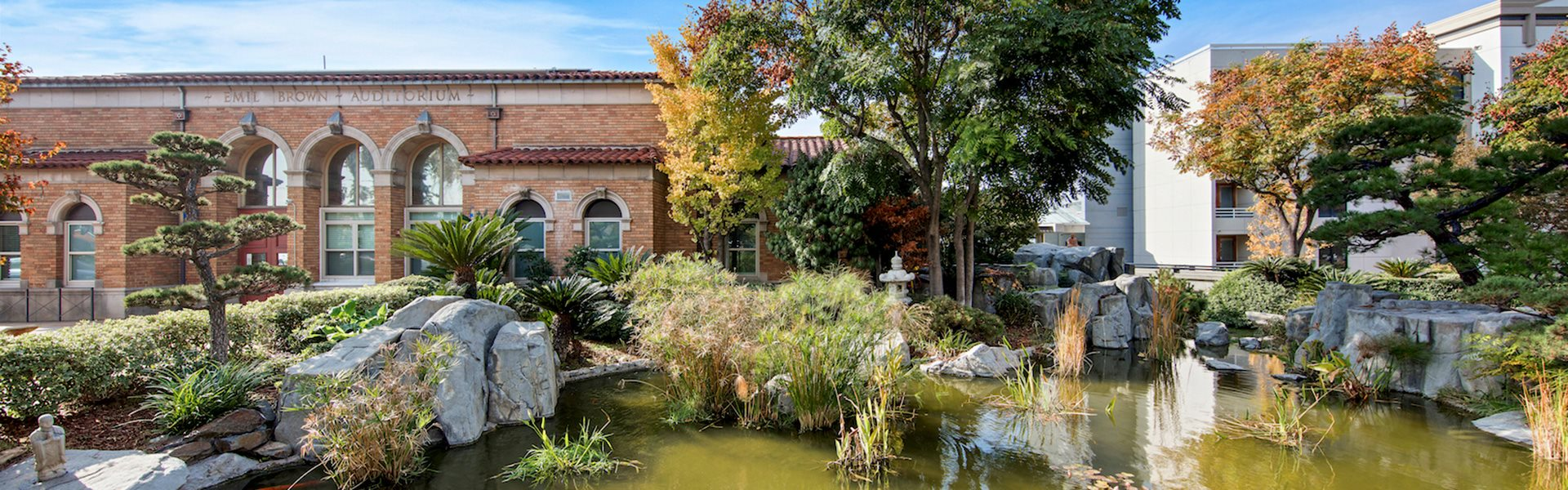 Sparking Lake Within Community at Pacifica Senior Living, Sakura Gardens of Los Angeles, California