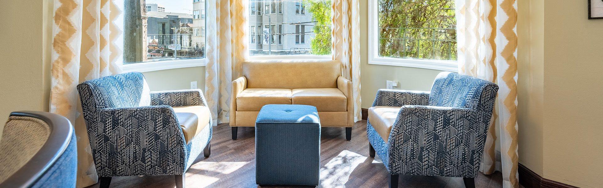 Extra Comfortable Sofa Chair at The Village at Hayes Valley, San Francisco, CA, 94102
