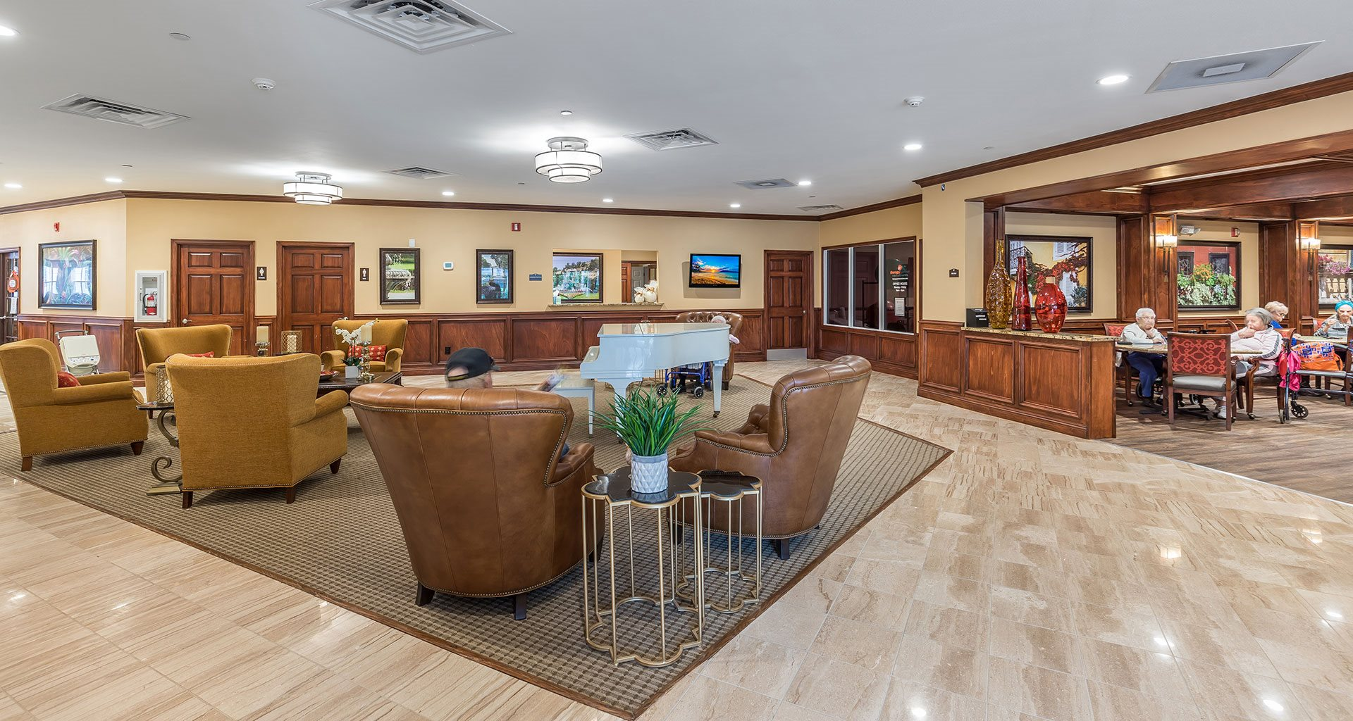 Posh Lounge Area In Clubhouse Is Perfect For Meeting Up With Friends at Wyndham Lakes, Jacksonville, FL, 32257