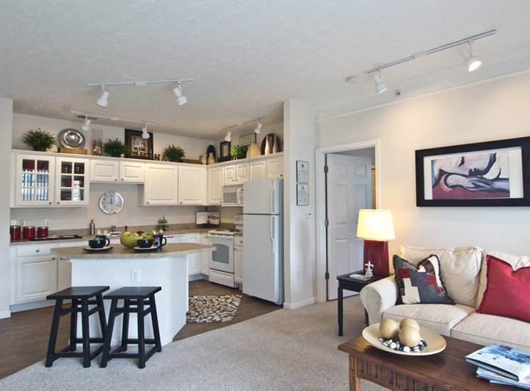 Dining and living area at The Charleston