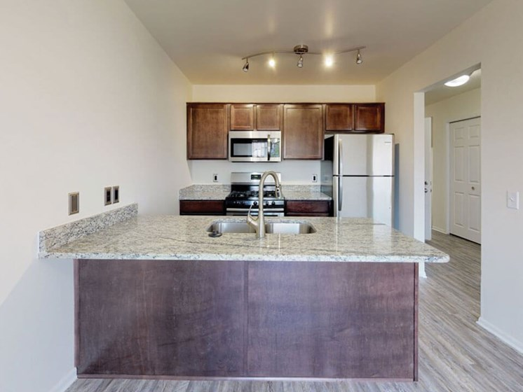 Kitchen at Grand Rapids townhome