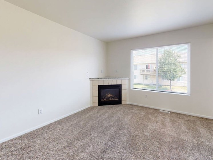fireplace in Grand Rapids Townhome
