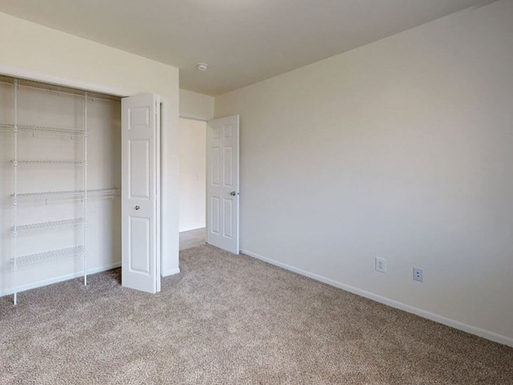 large closets at Grand Rapids townhomes