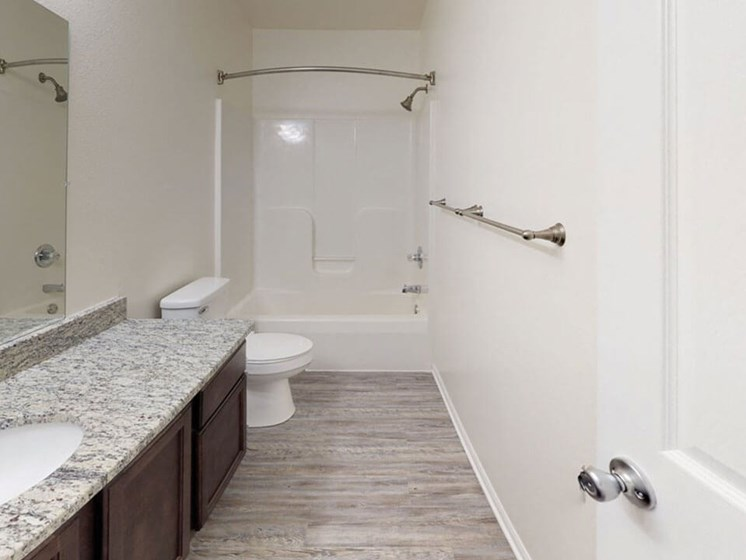 bathroom at Bloomfield townhomes for rent
