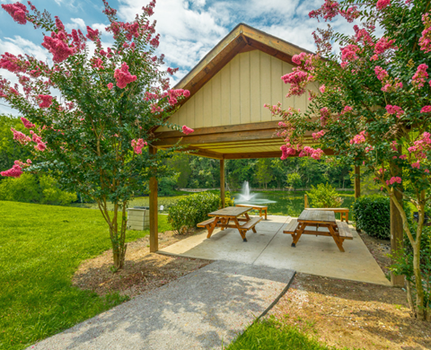 Picnic area at Preakness Apartments