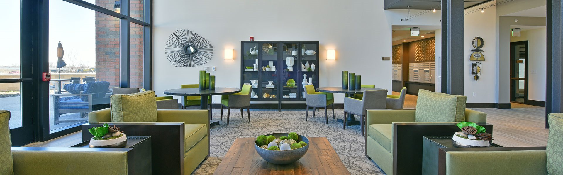 Posh Lounge Area at Rose Senior Living – Carmel, Carmel, IN