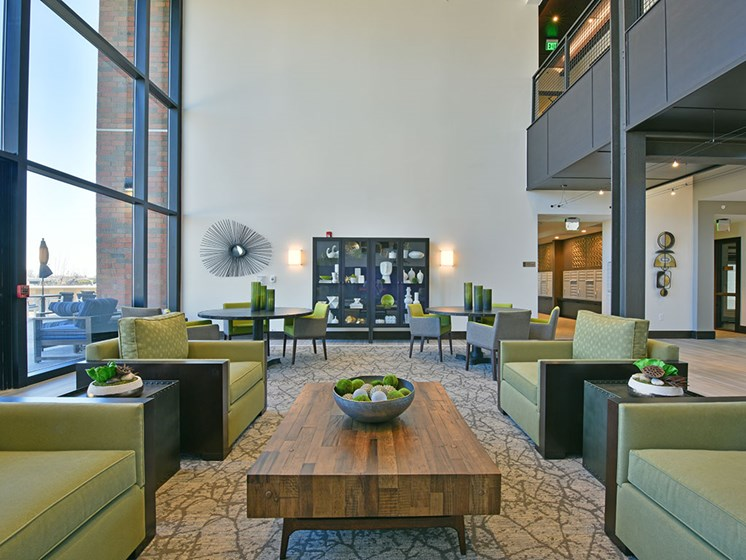Common Area with Incredible City Views at Rose Senior Living – Carmel, Carmel, IN, 46032