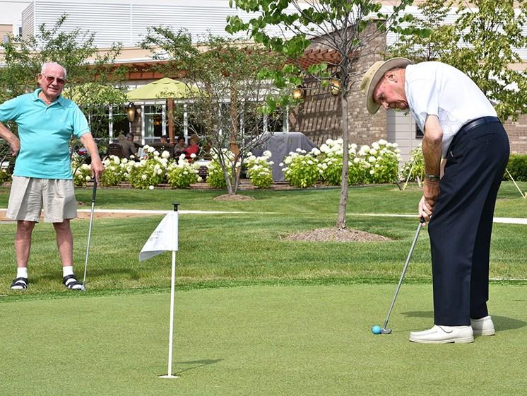 Putting Green at Rose Senior Living – Clinton Township, Michigan, 48038