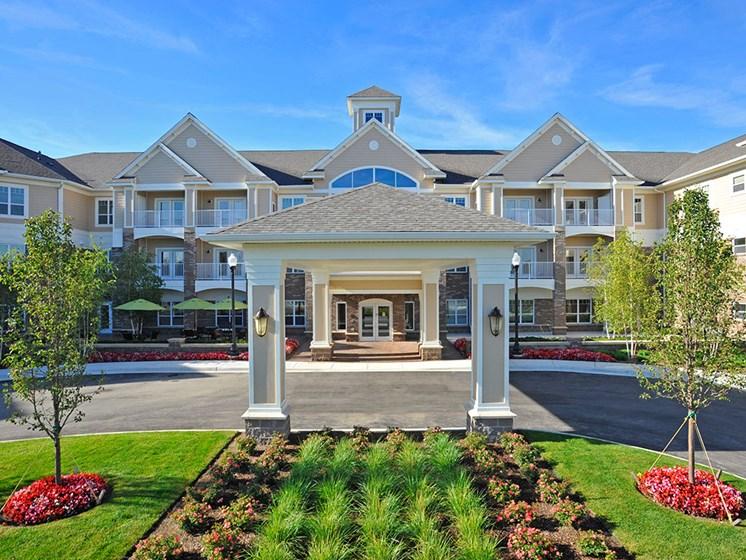 Front Entrance Garden at Rose Senior Living – Clinton Township, Clinton Township, 48038