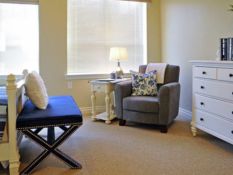 Memory Care Model Bedroom at Rose Senior Living – Clinton Township, Clinton Township, MI