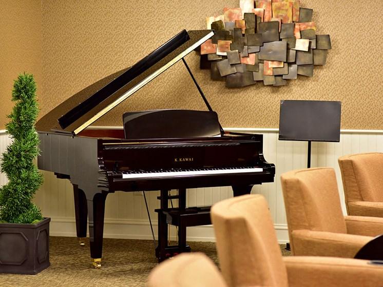 Piano For Live Entertainment at Rose Senior Living at Providence Park, Michigan