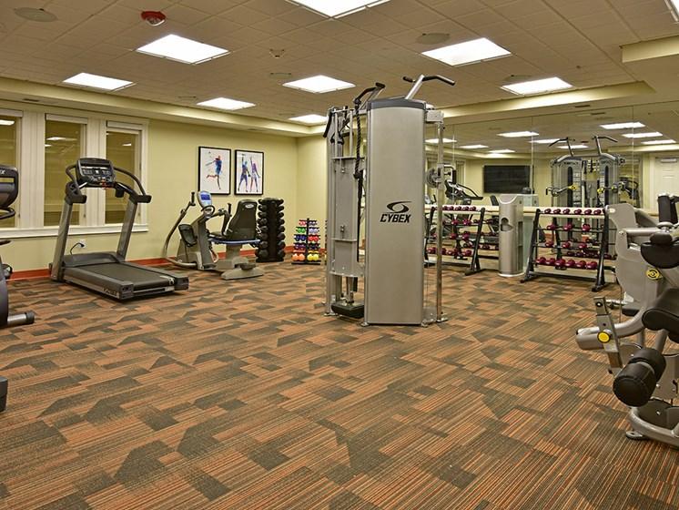 Modern Fitness Center at Rose Senior Living at Providence Park, Novi, MI, 48374