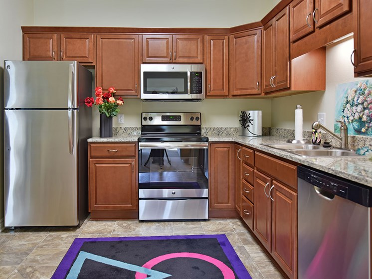Efficient Appliances In Kitchen at Rose Senior Living at Providence Park, Michigan, 48374